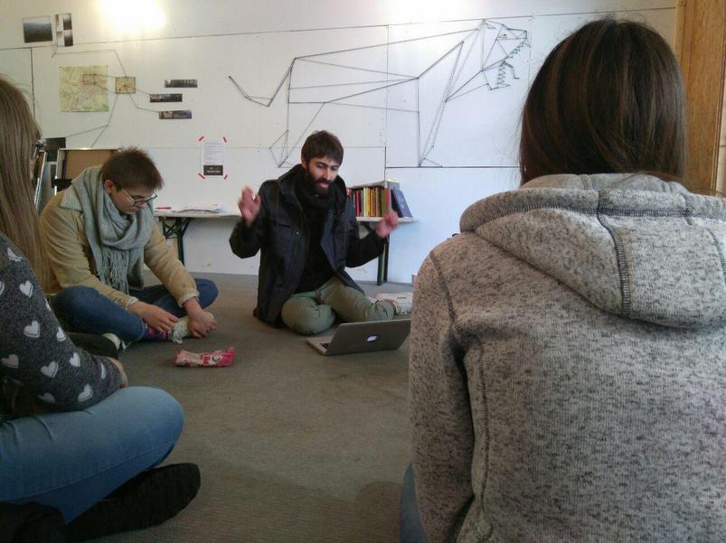 Workshop von Illia Yakovenko mit Schüler_innen der THS